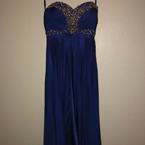 Size 38 royal blue evening dress